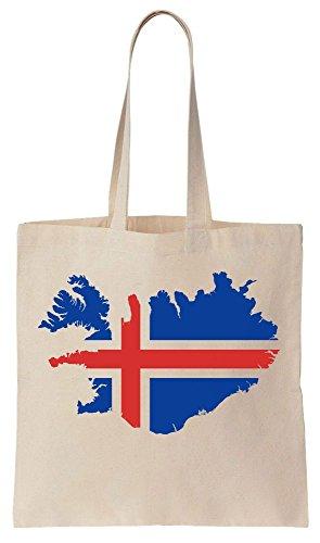 ISLAND ! Iceland Map Euro 2016 Flag Sacchetto di cotone tela di canapa