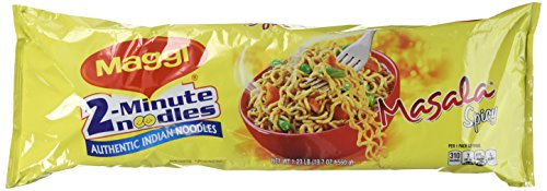 Maggi 2-Minute Noodles Authentic Indian Noodles Masala Spicy 8-Pack