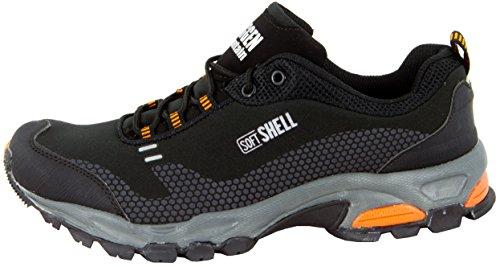 Randonn Plein Air Schwarz Marche GUGGEN T001 Chaussures Orange Chaussures de Hommes Bottes de Chaussures Mountain qwXqvP