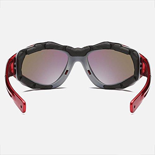 SEEKSUNG® Sports Polarizadas Sunglasses Bright Wind Glasses Sol Sand Outdoor Mountaineering Sports De Mirror Riding Rojo Gafas Black OqgRUrxwO