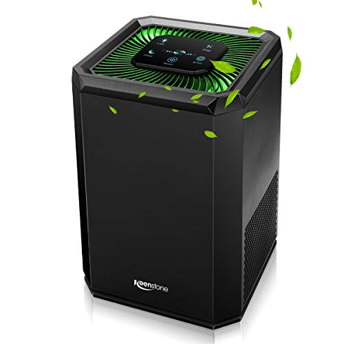 Keenstone Air Purifier for Home with HEPA Filter, Air Cleaner with 3 Stage Filtration System (3 Stage Filtration)