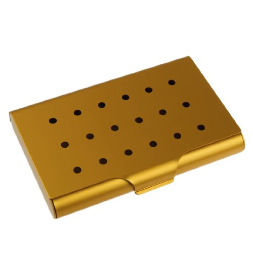 Business Card Case Set (YDC01A02 Gold Aluminum Best Business Name Id Credit Card Case For Boyfriends By Y&G)