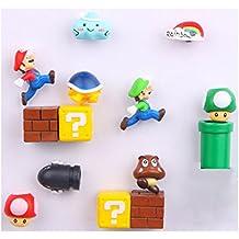 14 Pack Super Mario Fridge Magnets For Kids Decorative Refrigerator Locker Magnets Kitchen School Office Fun Decoration