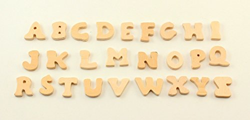 Mini Letters (Small Mini Wooden Letters 3/4 inch Tall 3/16 inch Thick Alphabet 26)