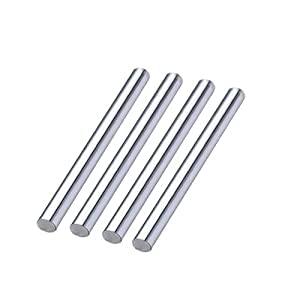 4Pcs 8mm x 500mm chrome plated linear motion guide rail round rod shaft for cnc parts 3d printer parts dia.8mm 500mm shaft OD 8mm shaft by FBT