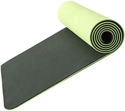 flmflmd Estera de Yoga de Dos Colores 183 x 80cm de Espesor 6mm Estera de Yoga de Caucho Natural