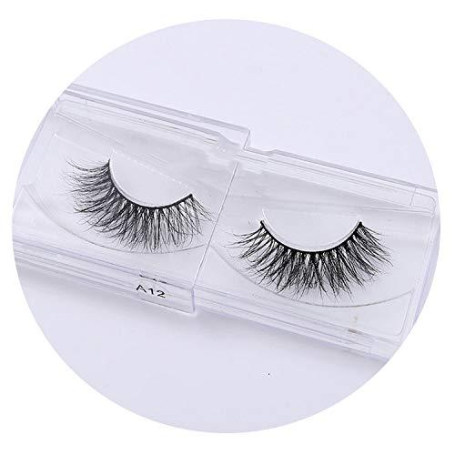 Band Mink Lashes 3D Mink False Eyelashes Long Lasting Lashes Natural & Lightweight Mink Eyelashes 1 Pair Packaging,A12