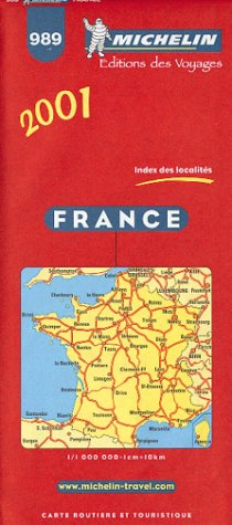 Michelin 2001 France  Michelin Country Maps Band 989