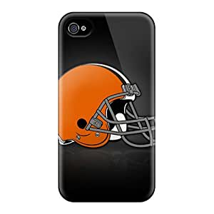 Durable Hard Cell-phone Case For Iphone 4/4s With Support Your Personal Customized HD Cleveland Browns Series VIVIENRowland