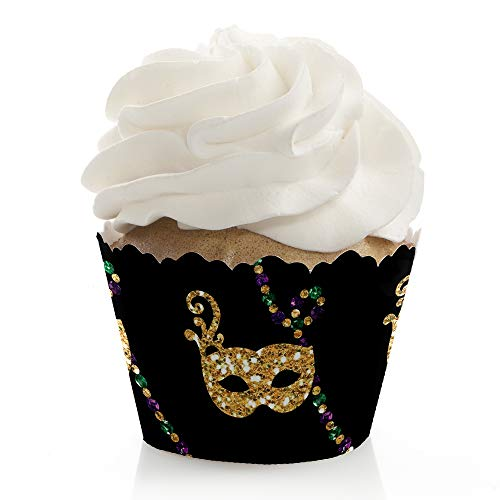 Mardi Gras - Masquerade Party Decorations - Party Cupcake Wrappers - Set of 12 ()