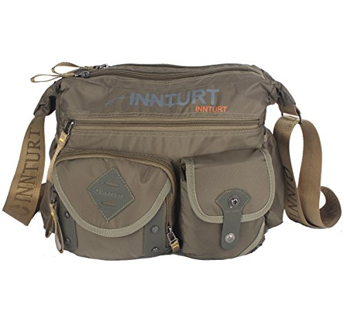 Innturt Nylon Messenger Bag Shoulder Sling Bag Army Green by Innturt