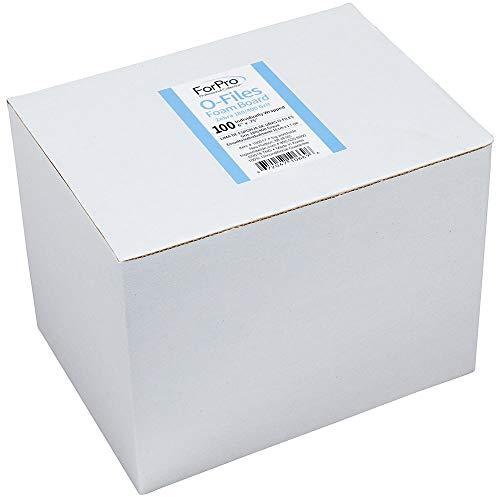 ForPro O-Files Foam Board, 180/400 Grit, Zebra, Double-Sided Manicure Nail File, 6