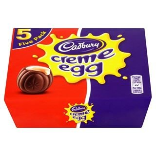 Original Cadbury Creme Egg (Pack of 5, 1 Box) Imported From the UK, England from Cadburys