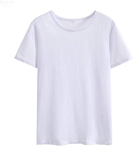Camiseta para Mujer Camiseta Mujer O-Cuello Camiseta De Manga Corta Mujer Top Algodón Negro Blanco Camiseta Suelta: Amazon.es: Deportes y aire libre