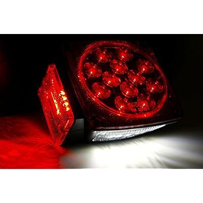 MAXXHAUL 70460 70460 12V LED Trailer Tail Light (Turn/Stop/Signal - Left/Right-DOT Compliant), 1 Pack: Automotive