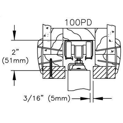 100PD Commercial Grade Pocket / Sliding Door Hardware (72'') by Johnson Hardware (Image #7)
