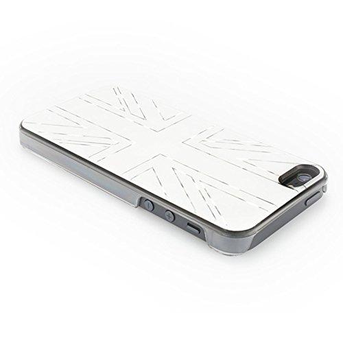 QDOS QD-7540-WUK Metallics Union Jack Schutzhülle für Apple iPhone 5/5S weiß