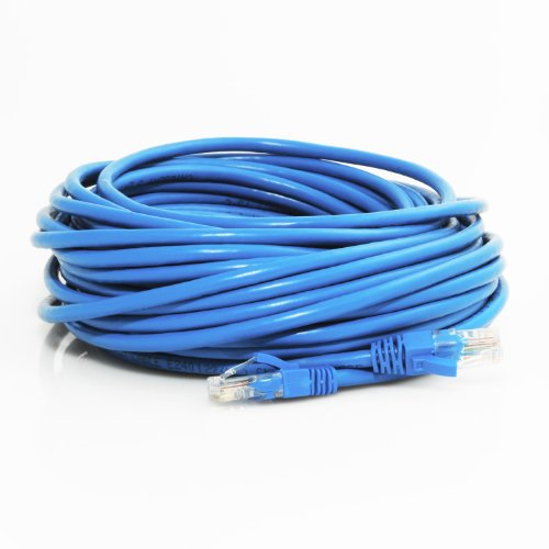 Mediabridge Cat5e Ethernet Patch Cable (50 Feet) - RJ45 Computer Networking Cord - Blue