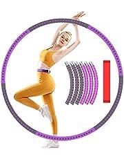 XWT Hula Hoop voor volwassenen, 6 secties Splice roestvrij stalen Hula Hoop diameter 92 cm Bump Massage Design Hula Hoop, verstelbaar gewicht en breedte Hula Hoop, ideaal voor volwassenen oefening, gewogen en fitness.