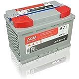 ECTIVE 80Ah 12V AGM Batterie EDC-Serie VRLA Versorgerbatterie in 7 Varianten: 65Ah - 230 Ah (wartungsfrei)