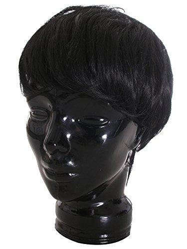 EPGW Men's Guy Wig Short Straight Cosplay Costume Party Hair Wigs, Black ()