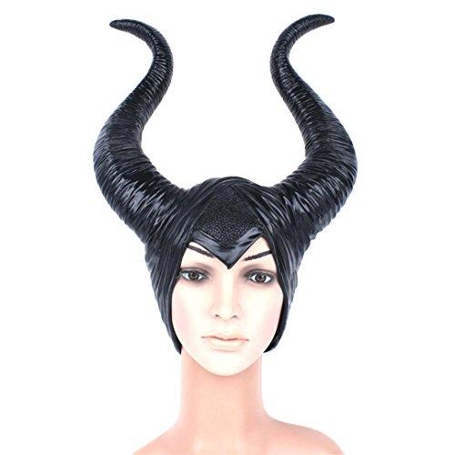 Halloween Cosplay Helmet ,Luckygirls Trendy Women Maleficent Horns Cosplay Costume Helmet Halloween Party Hat (Costumes Couples Ideas)