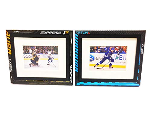 Requip'd 8 by 10 inch Picture Frame Made from Hockey Sticks 8x10in or 5x7in for Wall & Tabletop Hockey Gifts for Men and Gifts for Sports Fans ()
