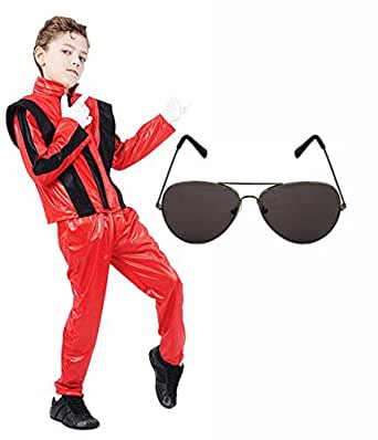 Amazon.com: Boys Michael Jackson 80S Fancy Dress Costume