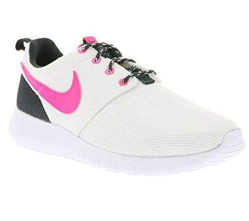 Nike Roshe Un (gs), Chaussures De Salle Unisexe Enfant Blanc (hyper-anthracite / Rose)