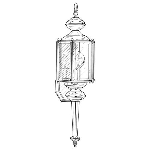 Designers Fountain 1103-DB Value Collection Wall Lanterns, Distressed Bronze