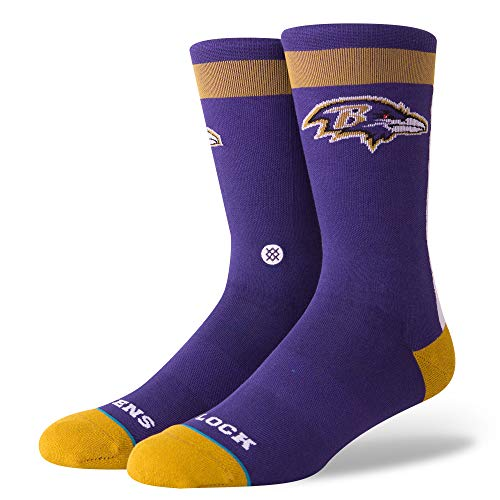 Stance M548D18RAV Men's Ravens Flock Socks, Purple - M (6-8.5)