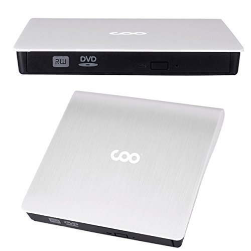 CD Drive, COO USB 3.0 External CD Drive Portable CD DVD +/-RW Drive Slim DVD/CD Rom Rewriter Burner High Speed Data Transfer External DVD Drive for Laptop Macbook Pro/Desktop Windows 7/8/10 (White) by COO (Image #8)