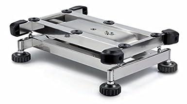 Plataforma Báscula [Núcleo SFB 100 K de 2L] Plataforma de acero inoxidable Báscula con plataforma de IP65, XL, rango de pesaje [Max]: 100 kg, Lectura [D]: ...