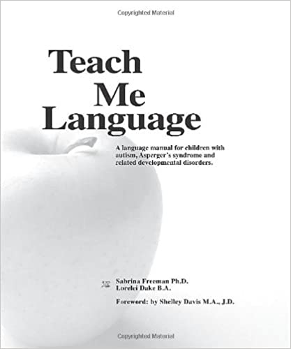 Teach Me Language: A Language Manual for children with autism ...
