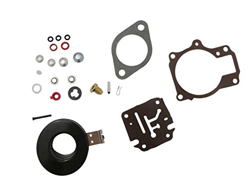 High Performance 396701 Carburetor Carb Repair Kits For Johnson Evinrude Carburetor 18 20 25 28 30 35 40 45 48 50 55 60 65 70 75 HP Outboard Motors with Floats (Parts Outboard Motor Johnson)