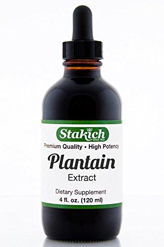 Stakich Подорожник (Plantago видов) 4 унции содержат спирта жидкий экстракт - высокое качество