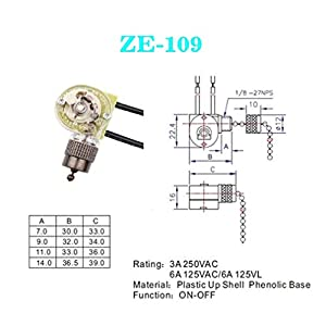 Hunter ZE-109 On-Off Speed Pull Chain Ceiling Fan Switch for Ceiling Fan Light, Lamps (Bronze Pull Chain)