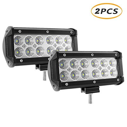 - Led Light Pod, YEEGO 7inch Flood LED Work Light, Off-Road Driving Fog Light, Super Bright for Truck,Jeep, Cabin SUV, ATV, Boat,Car,36W, 3600 lumen(2Pack-36W Flood Light)