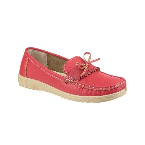 para Rojo mujer Zapatos Amblers cordones de TqSwZx7v
