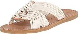 Dolce Vita Women's Jacey White Multi Leather Sandal 8 M