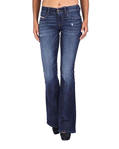 Super 668F Azul Mujer Livier para Vaquero Flare Diesel Slim Jeans Flare qwBpp0Y