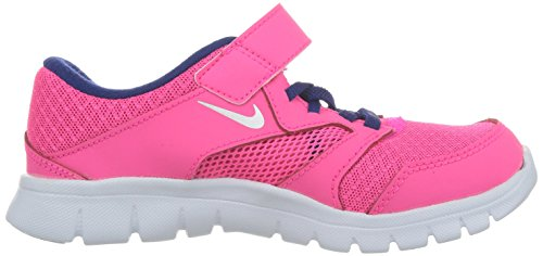 Nike Flex Experience 3 (Psv), Zapatillas de Deporte para Niñas Rosa / Plateado / Azul (Hypr Pnk / Mtllc Slvr-Dp Ryl Bl)