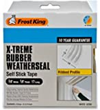 Frost King V23WA Extreme Rubber Ribbed Weather-Strip Tape 3/8-Inch by 1/8-Inch by 17-Feet, White