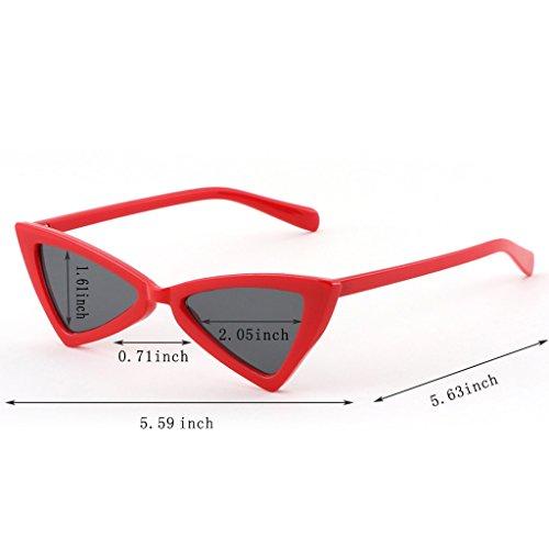 Rojo Del De WANGXIAOLIN Sol Sol Personalidad Blanco Color De Gafas De La Hombres Gafas Los De Triángulo naazxq0Bw