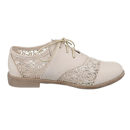 Ital-Design - Zapatos Planos con Cordones Mujer , color multicolor, talla 38 EU