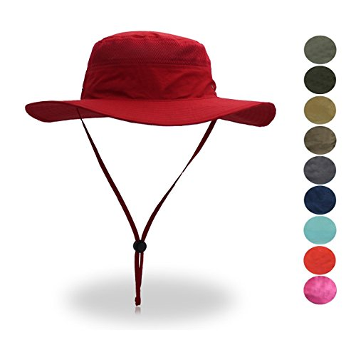 - belababy Quick-Dry Breathable Mesh Hat Sun Cap, Red