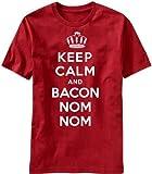 Keep Calm and Bacon Nom Nom - Mens T-shirt