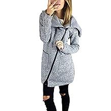 Women Plus Size Casual Zip Up Fleece Outerwear Jackets Coats Parkas With Pockets