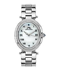 Porsamo Bleu South Sea Oval Crystal Stainless Steel Silver Tone Women's Watch 106ESSO