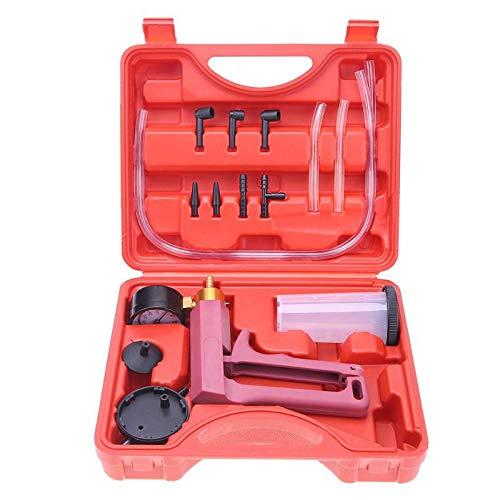 DSstyles 17pcs Hand Held Vacuum Pressure Pump Brake Bleeder Tester Tool Kit with Adapters for Vehicle Car